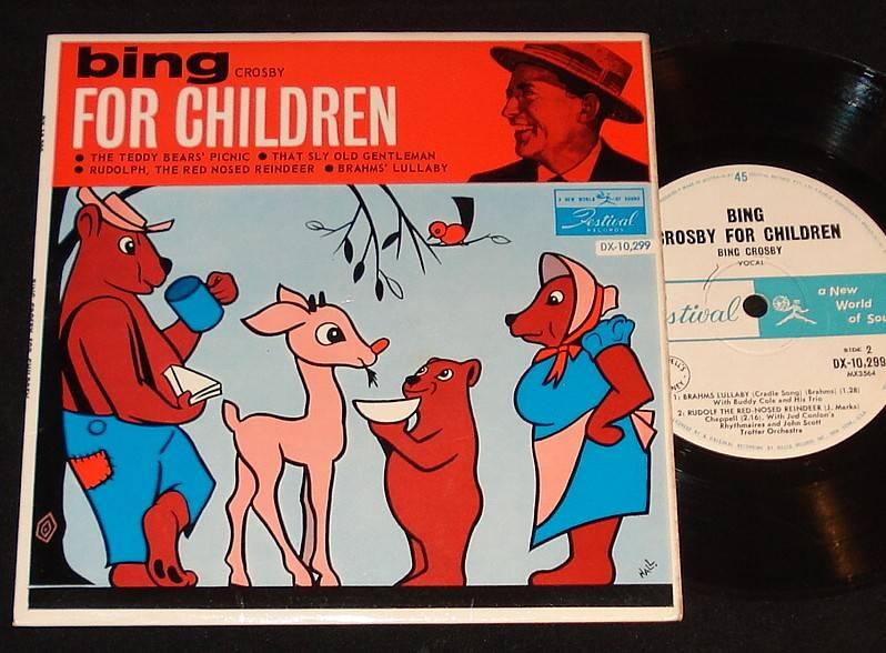 Bing crosby sings for children aussie festival ep kids record ebay