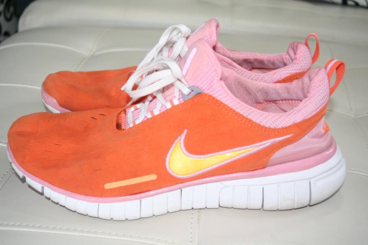 s neon orange pink nike free 5 0 running shoes 11