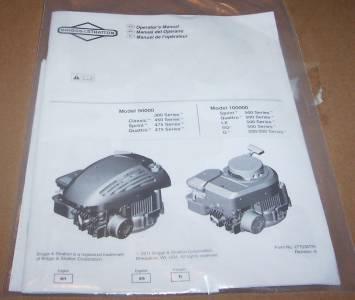 briggs and stratton lawn mower engine repair manual