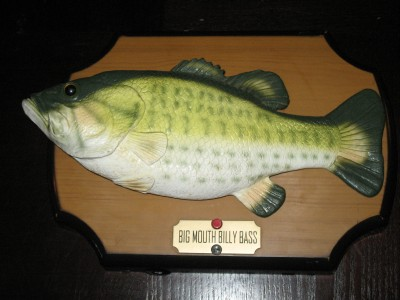 Big mouth billy bass singing fish on a plaque gemmy for Big mouth billy bass singing fish