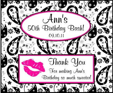 12 personalized her 50th birthday candy bar wrappers