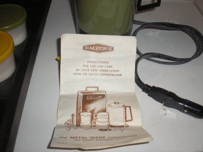 VINTAGE EMPIRE KAR N HOME COFFEE MAKER TRAVEL KIT