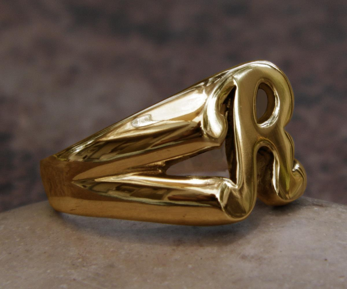 Famous R Gold Rings With Name Designs Pictures Inspiration ...