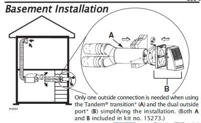 itm broan basement installation kit air exchanger 15273 350366457691