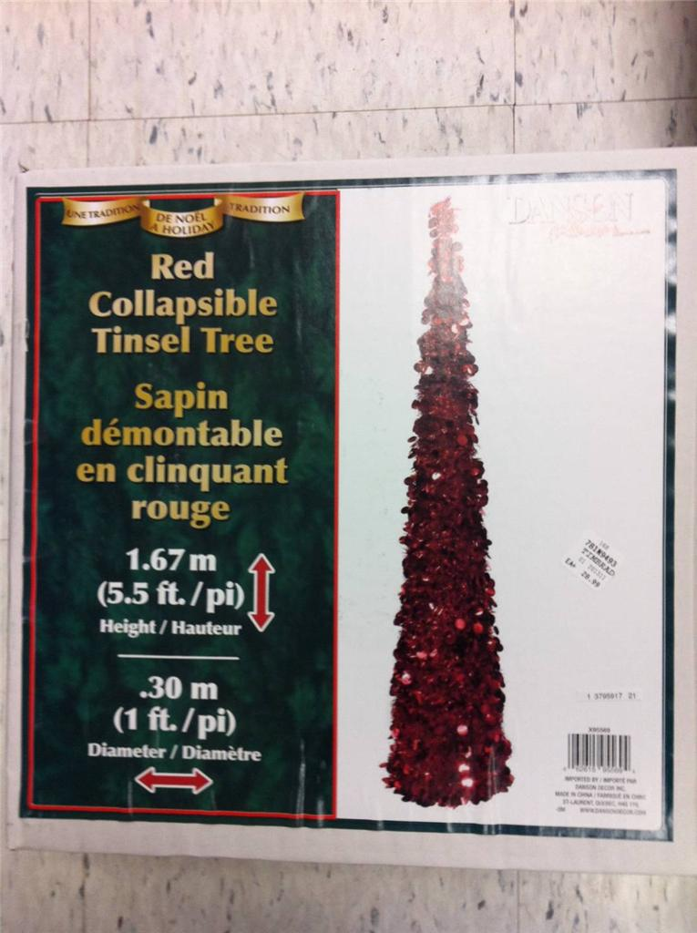 Danson Decor 5 5 Foot Tinsel Christmas Tree Collapsible