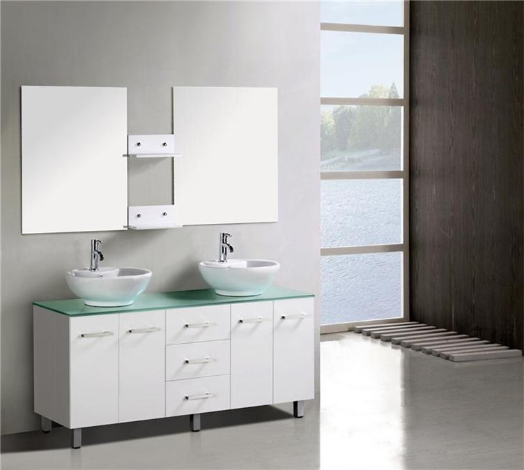 Cheap Bathroom Basins : New Double Bathroom Vanity Unit Above Counter Basin Bathroom Cabinet ...