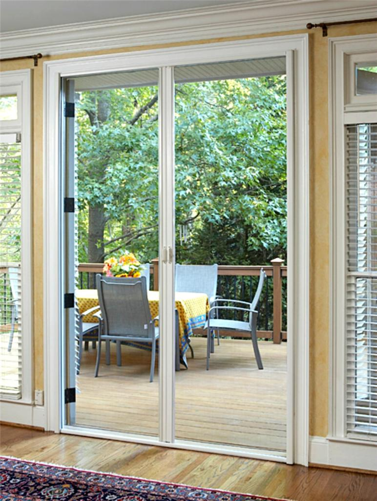 Retractable door fly screen white brown flyscreen suits for Retractable screen door