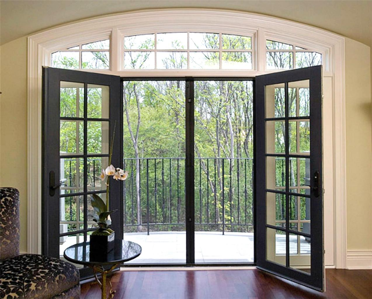 Retractable door fly screens for french doors 1700mmw x for Black french doors exterior