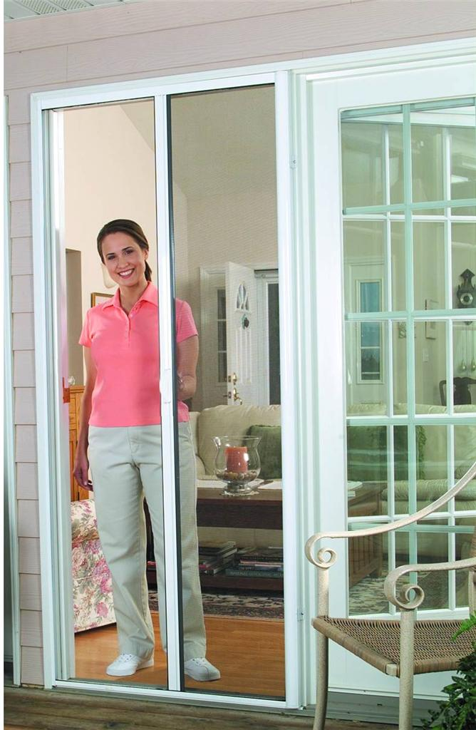 Diy retractable single fly screen french door aluminium Cost of retractable screen doors