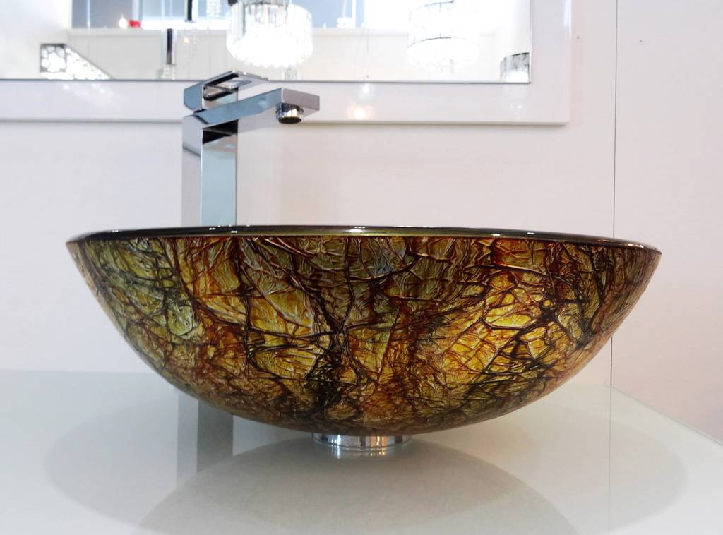 New Basin Glass Art For Bathroom Vanity Unit Hand Counter Top Sink For Cabinet Ebay