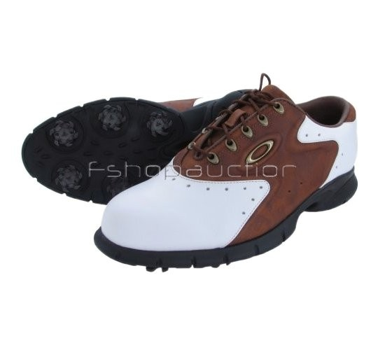 oakley overdrive white brown w 7 38 mens golf shoes new ebay
