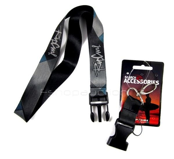 Rip-Curl-Blue-Black-Lanyard-Keychain-Phone-Neck-Strap