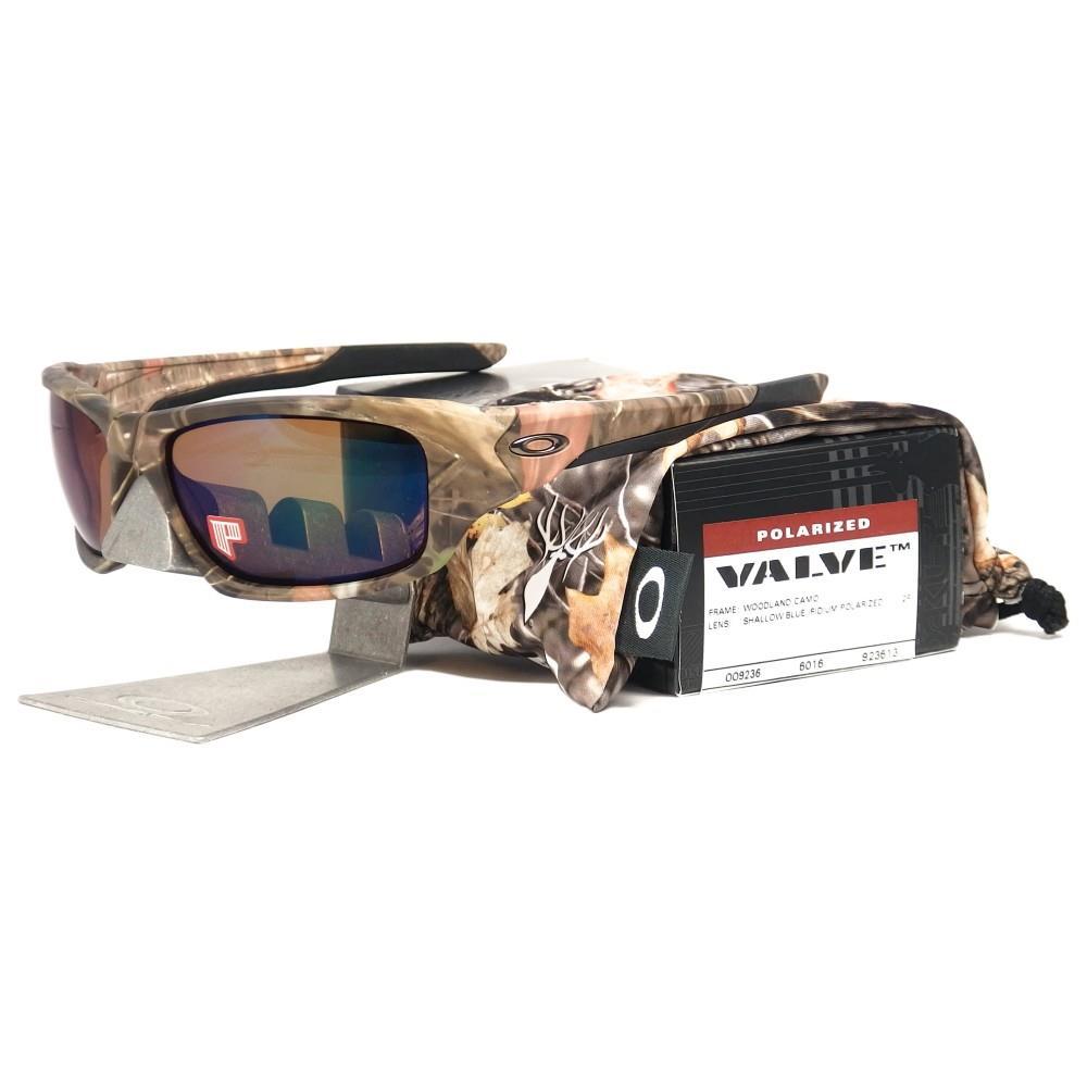 oakley sunglasses camo  Oakley OO 9236-13 POLARIZED VALVE Woodland Camo Shallow Blue ...