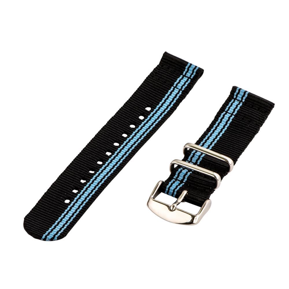 Nylon striped watch band