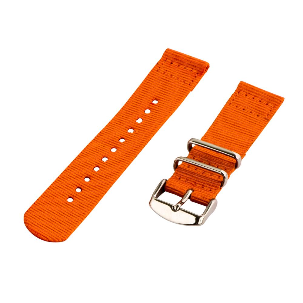 2 Piece Classic Nato SOLID Nylon Replacement Watch Strap Band