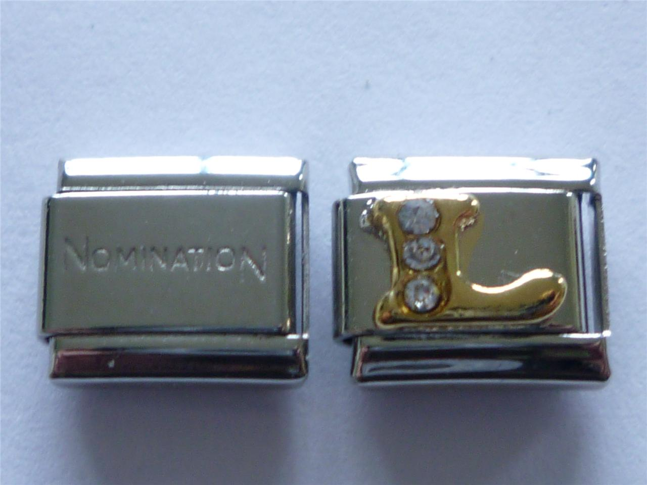 nomination shiny gold italian charm a to z