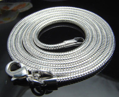 WHOLESALE-20PCS-SILVER-SNAKE-CHAIN-Mens-Womens-NECKLACE-16-24-2mm