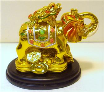 chinese oriental gold golden feng shui elephant money coin frog toad wealth new ebay. Black Bedroom Furniture Sets. Home Design Ideas