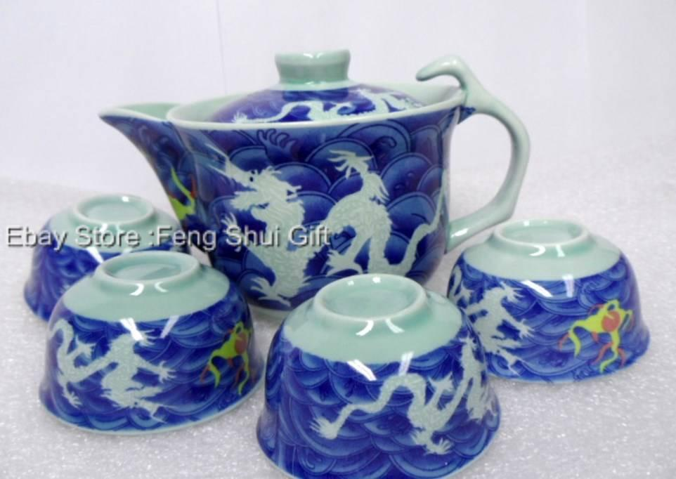 Japanese chinese oriental ceramic hot green tea pot mug Green tea pot set
