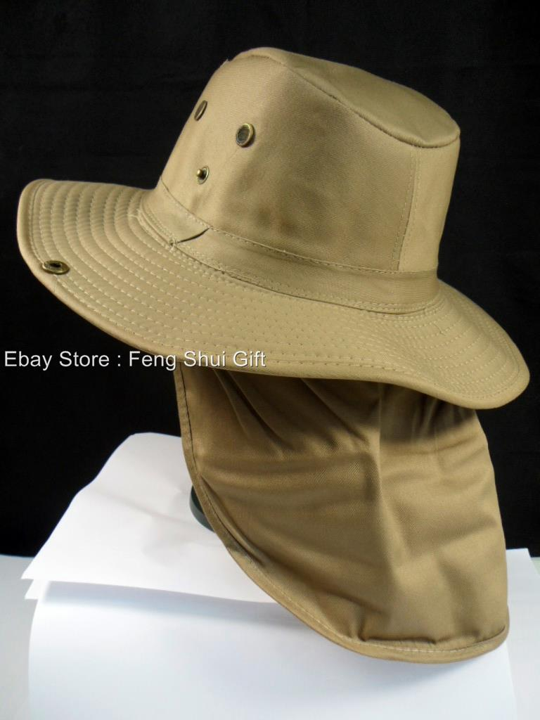 Fishing camping hunting hiking brim neck cover boonie sun for Fishing neck cover