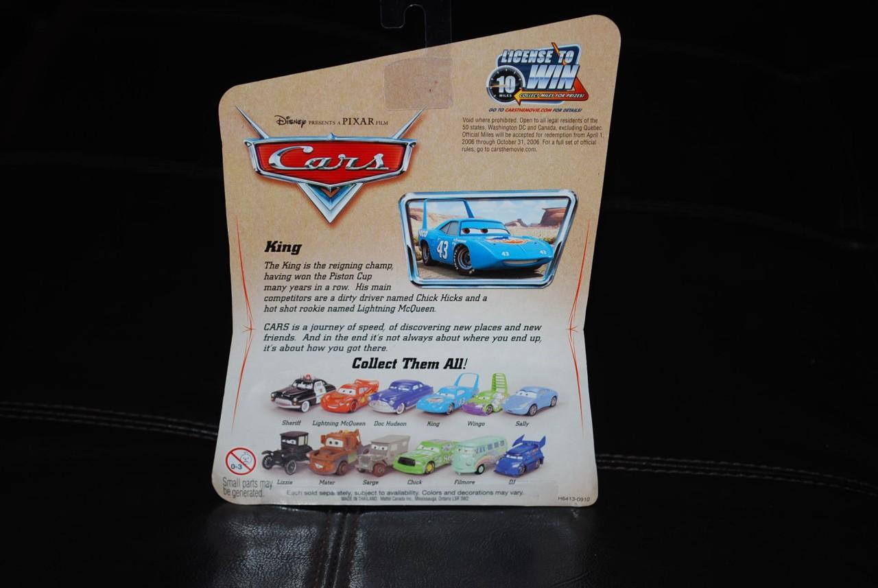 Disney Pixar CARS Desert SERIES 1 KING. Mint in original pack.