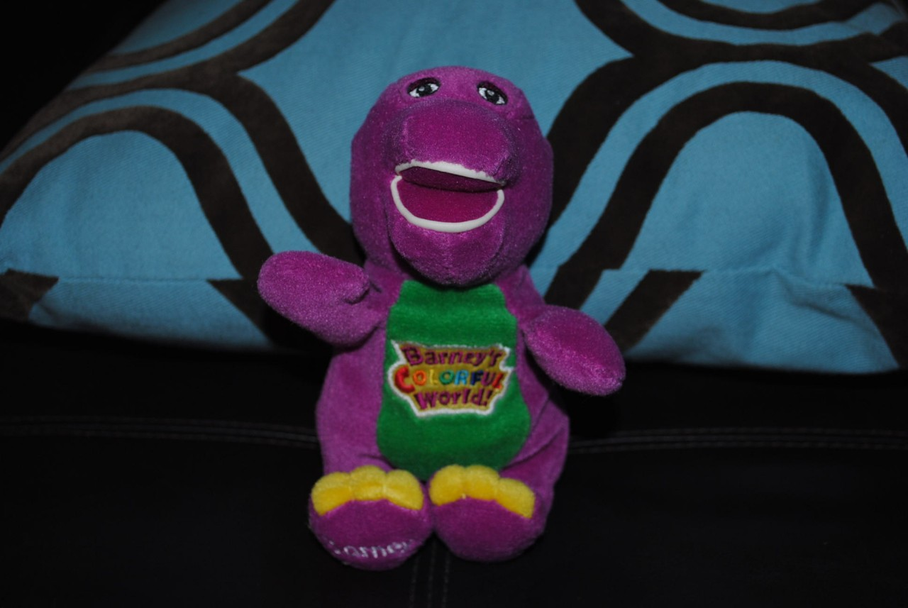 Barney s colorful world pbs lyons exclusive plush doll hard to find