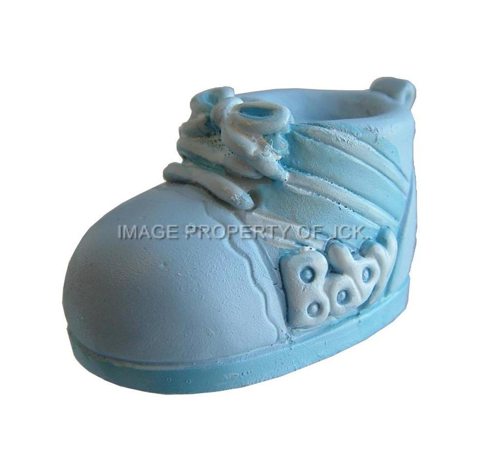 Cake Toppers Baby Boy : BLUE & WHITE BABY BOYS BOOTIE CHRISTENING NEW BABY SHOWER ...