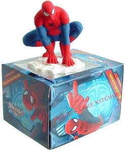 Spiderman Cake Decorations Uk : 8cm SPIDERMAN ICING SUGARPASTE MODEL BIRTHDAY CAKE TOPPER ...