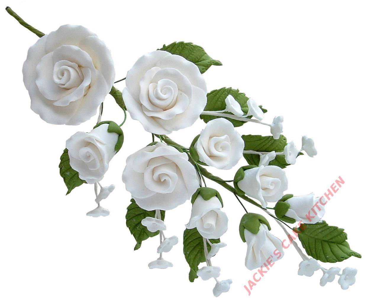 Large Medium Small Xs Sugar Rose Spray Bouquet Wedding Cake Topper