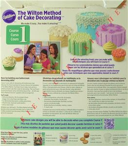 The Wilton Method Of Cake Decorating Kit : THE WILTON METHOD OF CAKE DECORATING COURSE 1 STARTER KIT ...