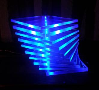 Blue mood light