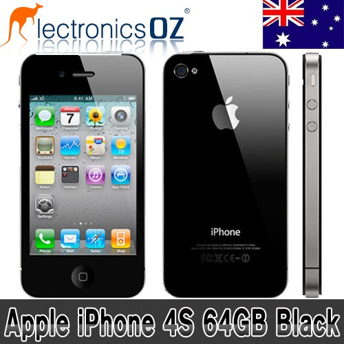 Apple-UNLOCKED-iPhone-4S-64GB-Smartphone-Mobile-Phone-Black