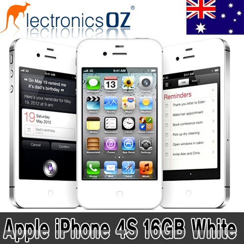 Apple-UNLOCKED-iPhone-4S-16GB-Smartphone-Mobile-Phone-White