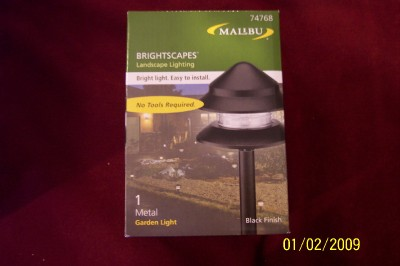 4 malibu landscape metal path lights lt406gr. Black Bedroom Furniture Sets. Home Design Ideas