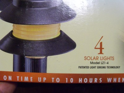 Malibu 2 Tier Solar Landscape Garden Lights LZ1 New