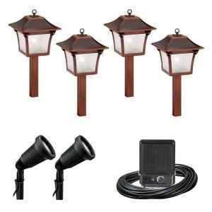 malibu 6 pc low voltage colonial landscape light set kit 8300 9901 06. Black Bedroom Furniture Sets. Home Design Ideas