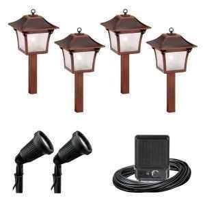 malibu 6 pc low voltage colonial landscape light set kit. Black Bedroom Furniture Sets. Home Design Ideas