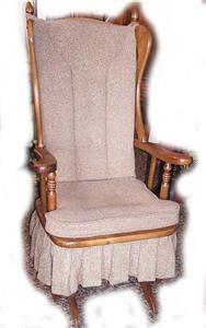 Details about Newport Glider Upholstered Platform Rocking Chair