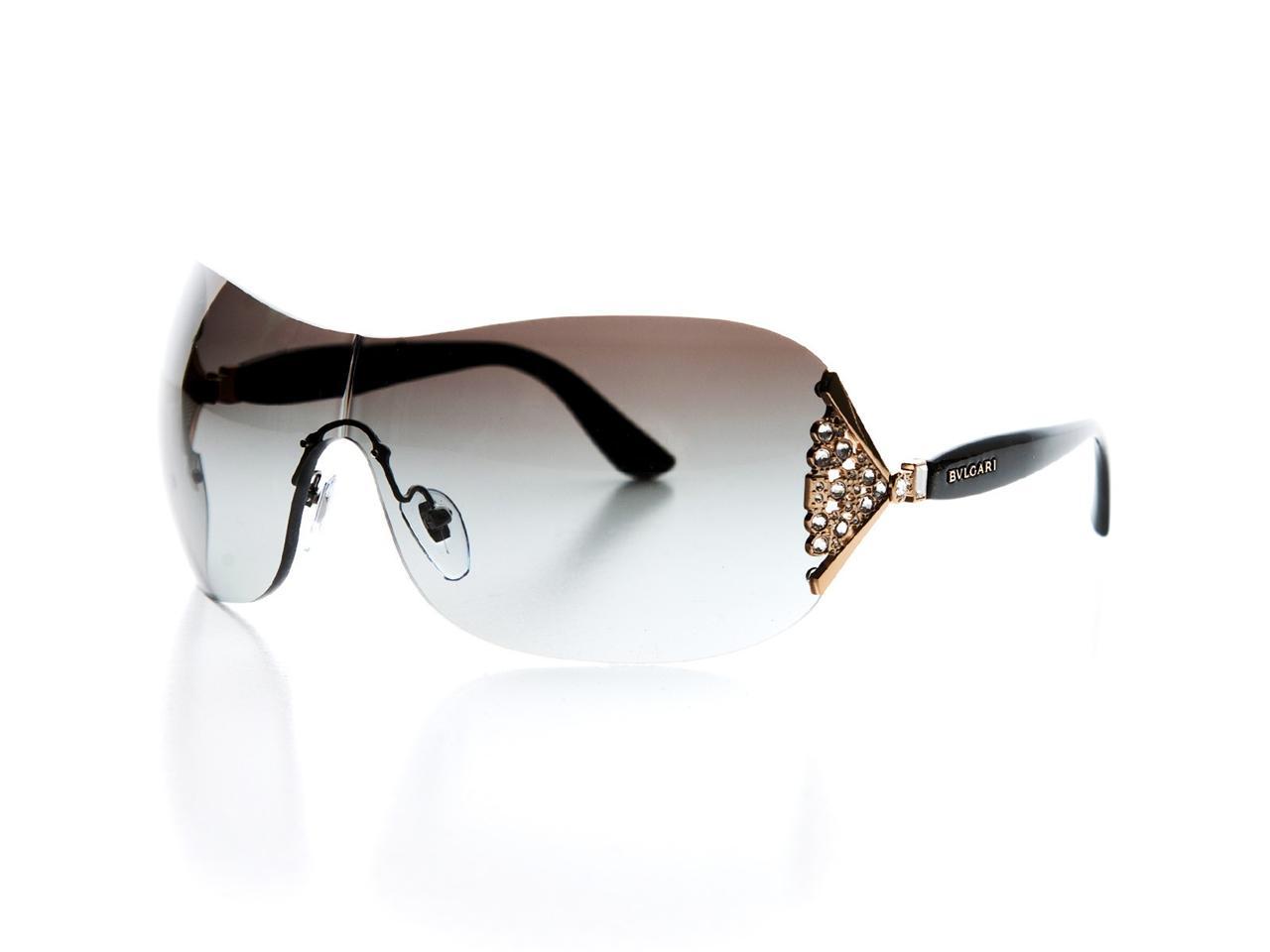 Bvlgari Sunglasses Gold Frame : NEW Bvlgari Womens Sunglasses BV 6061B 376 8G Black Gold ...