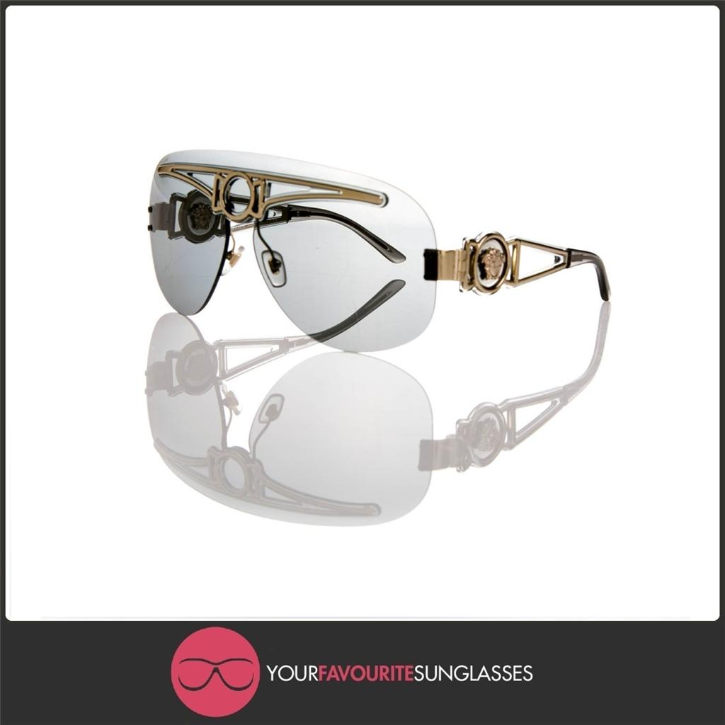 Versace Sunglasses Gold Frame : VERSACE DESIGNER SUNGLASSES VE 2131 1252/87 LIGHT GOLD ...