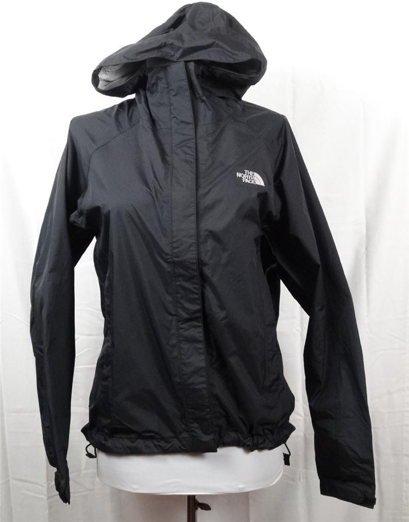 New The NORTH FACE Black VENTURE Hyvent Rain Jacket Womens ...