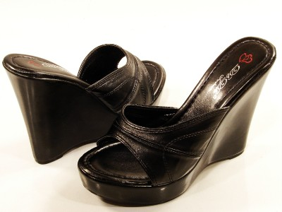 dbdk shoes helga black high heel wedge platform slip on