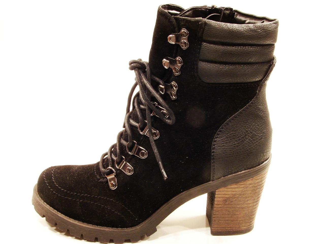womens blossom alpa high heel lace up hiker work boot