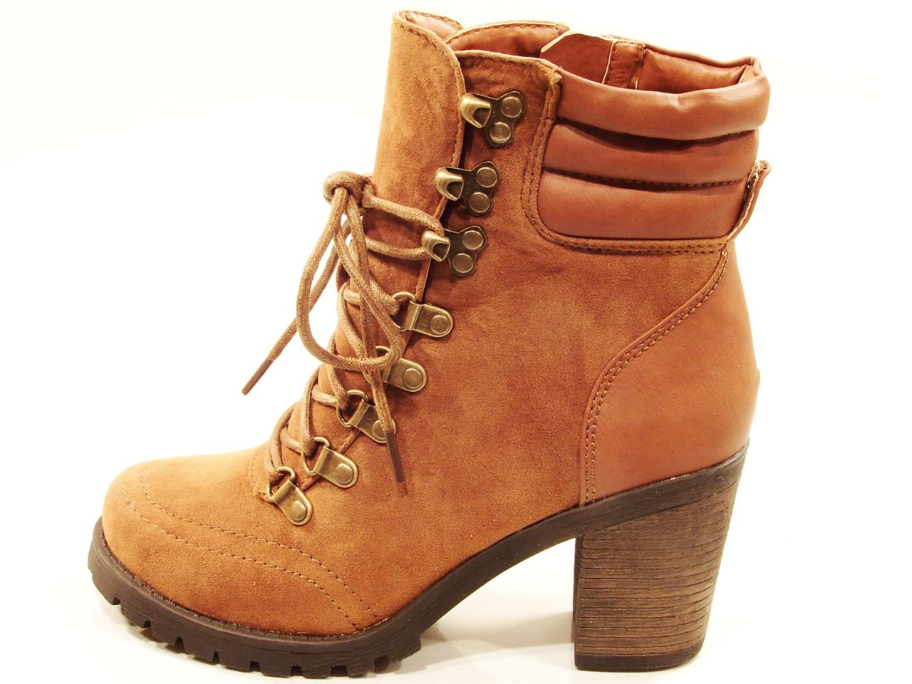 womens blossom alpa high heel lace up hiker work boot