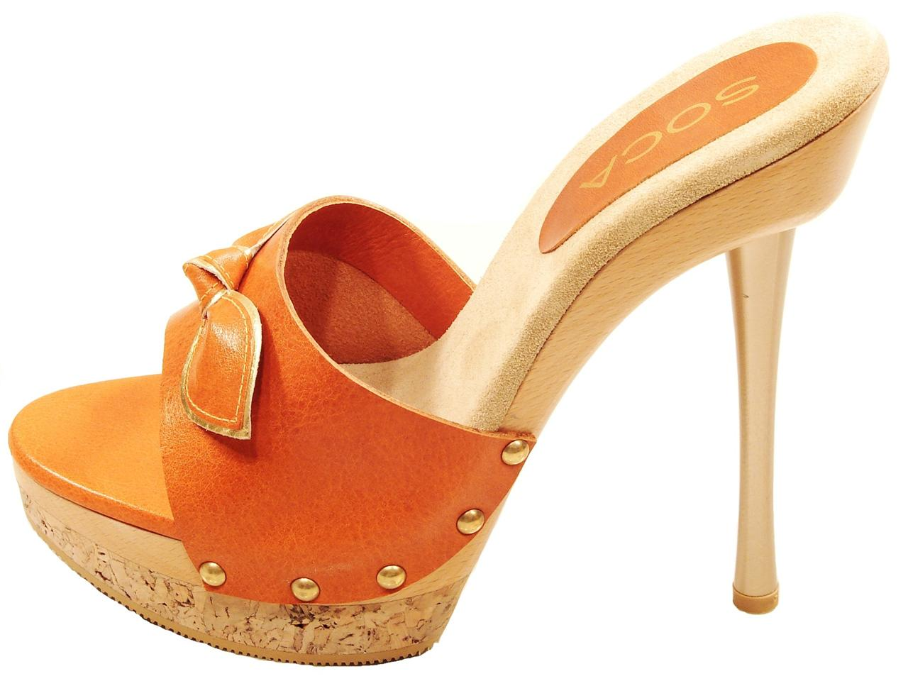 high sandals platform Wood heel
