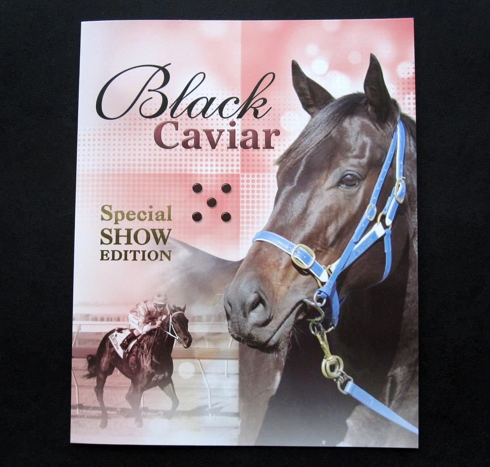 2013-BLACK-CAVIAR-10-X-60c-STAMP-PACK-SET-GOLD-OVERPRINT-SPECIAL-SHOW-EDITION