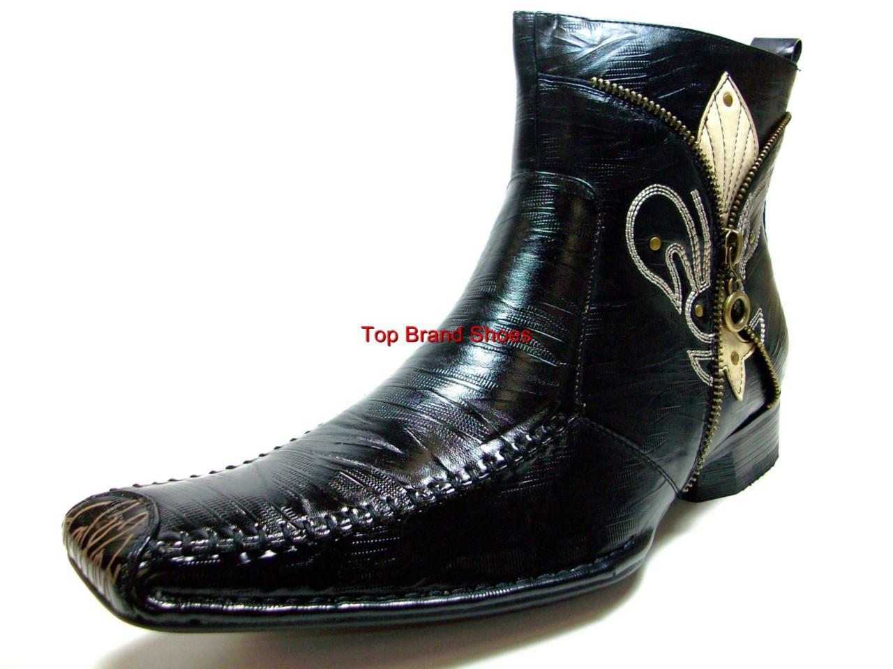 mens d aldo italian style black dress casual boots shoe ebay