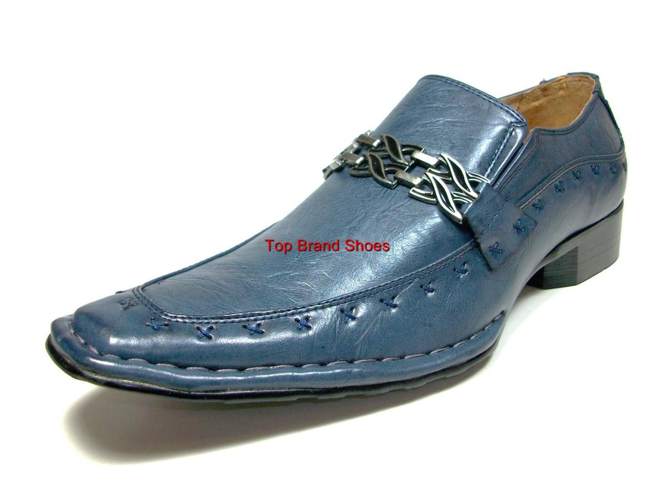 blue italian style designer dress casual shoes loafers ebay