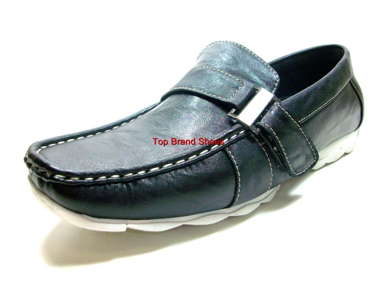 mens casual black italian style driving shoes loafers ebay