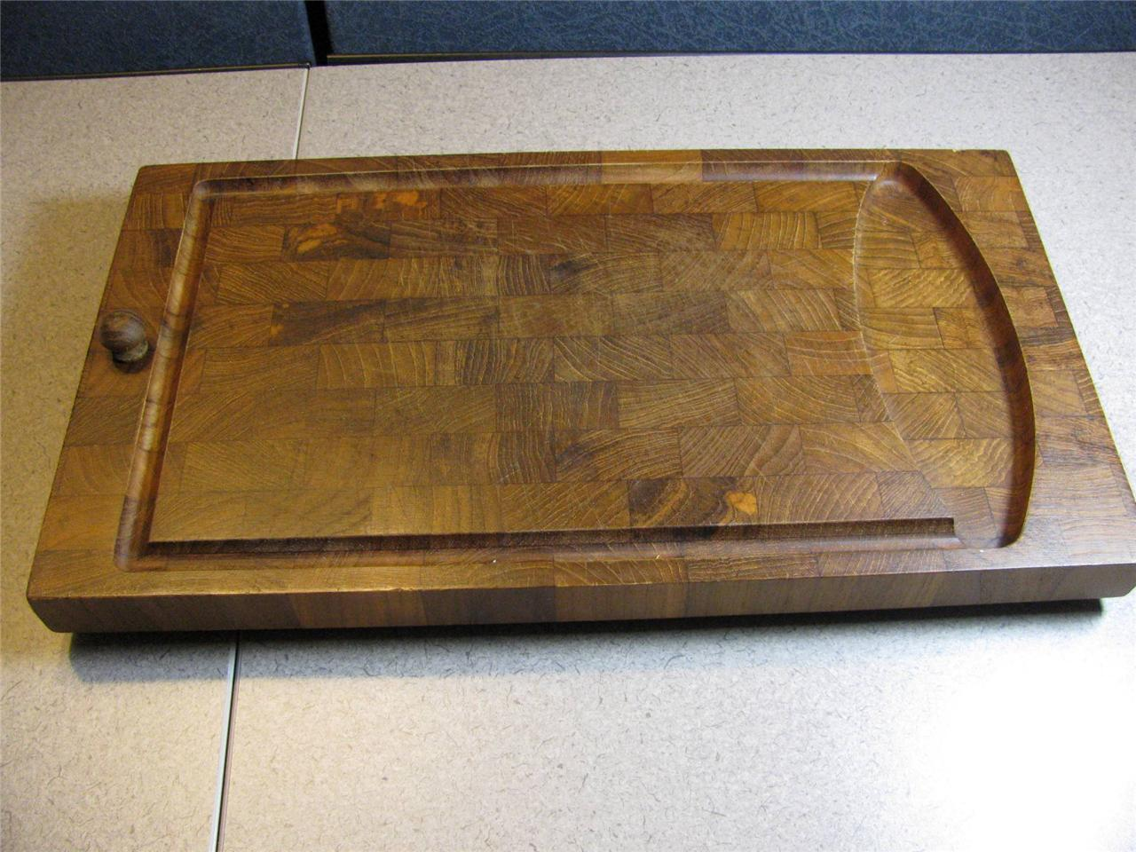 Digsmed Denmark Staved Teak Carving Cutting Board Mid